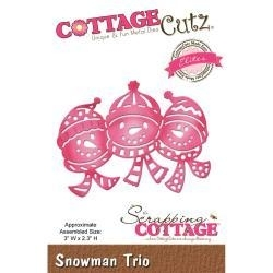 "416440 CottageCutz Elites Die Snowman Trio, 3""X2.3"""