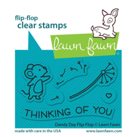 """LF2562 Lawn Fawn Clear Stamps Dandy Day Flip-Flop 3""""X2"""""""