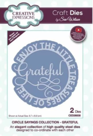 CED26008 Creative Expressions  Circle sayings craft die Grateful