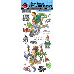 375837 Art Impressions Work & Play Clear Stamps Gotta Garden