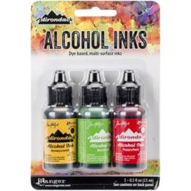 360173 TAK40859  Adirondack Alcohol Ink CONSERVATORY-HONEYCMB/BOTANICAL/POPPYFLD