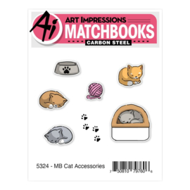 643897 Art Impressions Matchbooks Stamp & Die Set Cat Accessories