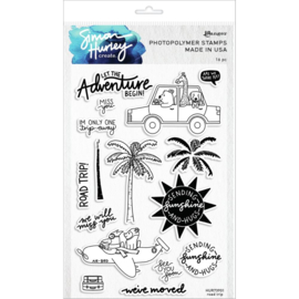 "631189 Simon Hurley create Cling Stamps  Road Trip 6""X9"""