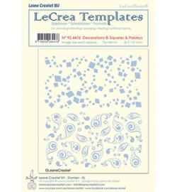 95.4476 LeCrea Templates Squares & Paisleys