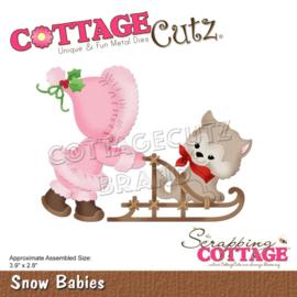 """CC831 CottageCutz Dies Snow Babies 3.9""""X2.8"""""""