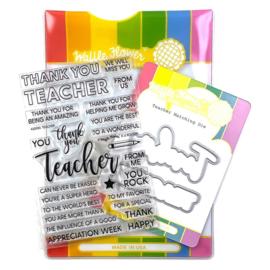 655005 Waffle Flower Stamp & Die Set Teacher