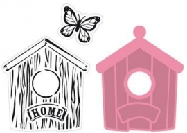 COL1309  marianne design Collectable Birdhouse home,