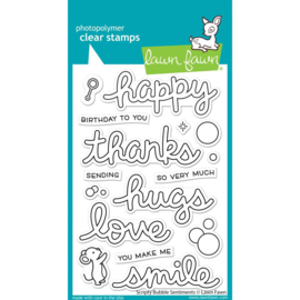 """LF2502 Lawn Fawn Clear Stamps Scripty Bubble Sentiments  4""""X6"""""""
