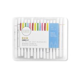 663890 Kaisercolour Slimline Art Markers 48/Pkg