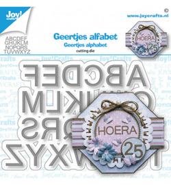 6002/1559 Joy! Crafts Stansmal Geertje Alfabet gestikt
