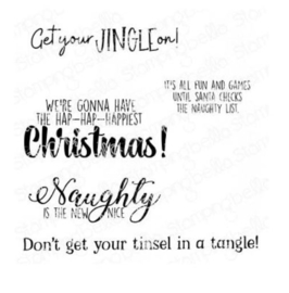 606588 Stamping Bella Cling Stamps Holiday Fun Sentiments