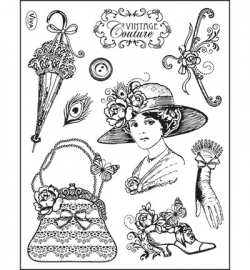 6940 Viva Decor Clear Stamps Vintage Couture