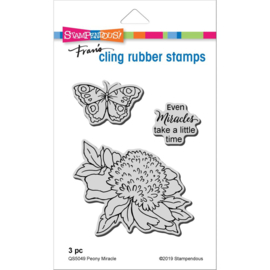 615421 Stampendous Cling Stamp Peony Miracle
