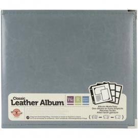 "517014 We R Classic Leather 3-Ring Album Charcoal 12""X12"""