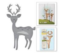 s3-229 Spellbinders Die D-Lites Woodland Deer