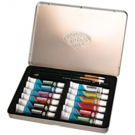 386411 Watercolor Painting Art Set W/Tin