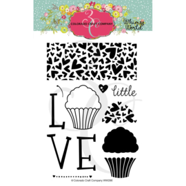 "624365 Colorado Craft Company Clear Stamps Little Love-Whimsy World 4""X6"""
