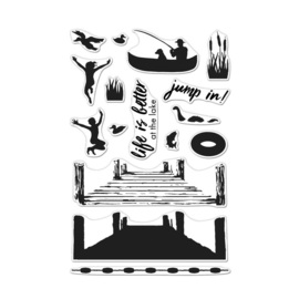 "620609 Hero Arts Color Layering Clear Stamps Pier At The Lake 4""X6"""