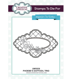 UMS839 To Die For Stamp Phoebe's Daffodil Trio