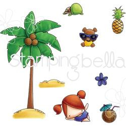 074246 Stamping Bella The Littles Cling Stamp Set Palm Tree