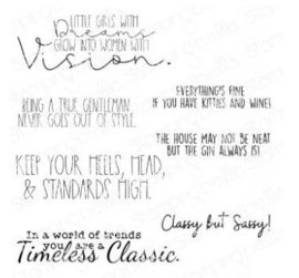 EB953 Stamping Bella Cling Stamps Timeless Classic Sentiment