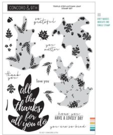 """662350 Concord & 9th Clear Stamps Triple Step Autumn Leaf 6""""X8"""""""