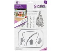 GEM-STD-OTREE  Gemini O'Christmas Tree Photo Frame Stamp & Dies