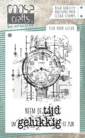 130630/2058 COOSA Crafts clearstamps A7 - Tijd voor Geluk (NL) COC-058