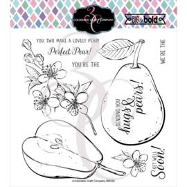 """C3BB333 Colorado Craft Company Clear Stamps Hugs & Pears-Big & Bold 6""""X6"""""""