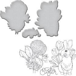 SDS063 Spellbinders Stamp & Die Set Bunny