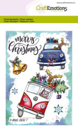 130501/1655 CraftEmotions clearstamps A6  x-mass cars 1 Carla Creaties