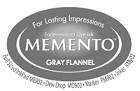 222130 Memento Full Size Dye Inkpad Gray Flannel