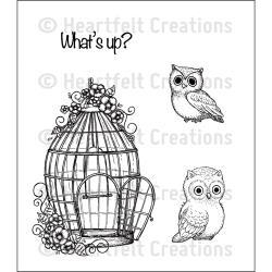 523270 Heartfelt Creations Cling Rubber Stamp Set Sugar Hollow Bungalow