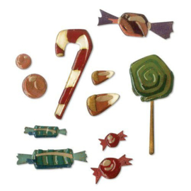 664204 Sizzix Thinlits Die Set 11PK Sweet Treats  Tim Holtz