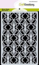 185070/0306 CraftEmotions Mask stencil achtergrond Geometrisch Art Deco A6