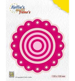 MFD111 Nellie's Choice Multi Frame Dies Rosette round