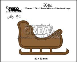 115634/0854 Crealies X-tra no. 34 Slee CLXtra34 80 x 53 mm