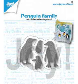 6002/1417 Joy!Crafts Cutting & embossing Pinguïnfamilie