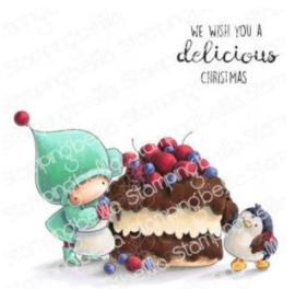 641994 Stamping Bella Cling Stamps Bundle Girl & Penguin Bake A Cake