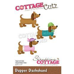 """561317 CottageCutz Dies Dapper Dachshund 2.2""""X1.7"""""""