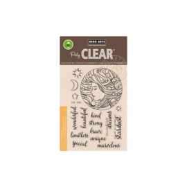 "616268 Hero Arts Clear Stamps Universal Woman 4""X6"""