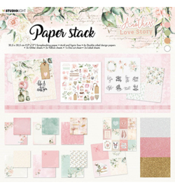 SL-ALS-MPP01 StudioLight Paper Stack Pattern Paper Another Love Story nr.1