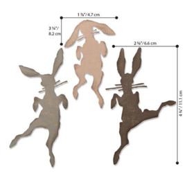 664421 Sizzix Thinlits Die Set Bunny Hop by Tim Holt  Tim Holtz 3PK