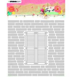SL-SWF-EMBCD11 StudioLight SL Emb. Folder & Cutting Die Say it with flowers nr.11