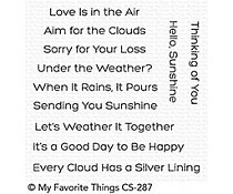 CS-287 My Favorite Things Aim for the Clouds Clear Stamp