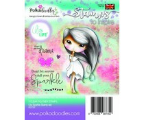 PD7707 Polkadoodles Ula Sparkle Clear Stamps