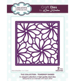 CEDLH1052 Cutting & embossing Teardrop Daisies