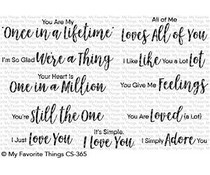 CS-365 My Favorite Things Stamp Sweet Nothings