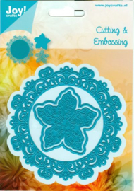 **Joy Crafts stans  cirkel met bloem (6002/0460)