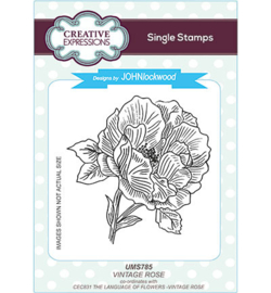 UMS785 Single Stamp Vintage Rose